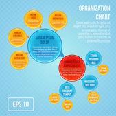 Organizational chart infographic — Stock Vector