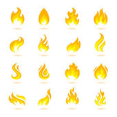 Fire Flames Icons — Stock Vector