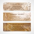 Science sketch vintage banners — Stock Vector #45542563
