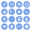 Space and Astronomy Icons — Stock Vector #45542357