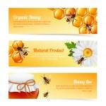 Honey bee banners — Stock Vector #45542483