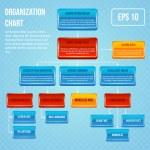 Organizational chart 3d concept — Stock Vector #45542707