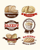 Pastry and bread labels — Stock Vector