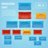 Organizational chart 3d concept — Stock Vector