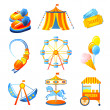 Amusement Park Icons Set — Stock Vector #45603529
