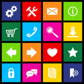 Website Icons Metro — Stock Vector