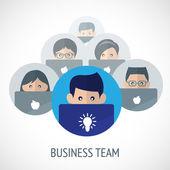 Business team emblem — Stock Vector
