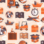 Logistic seamless pattern — Stock Vector