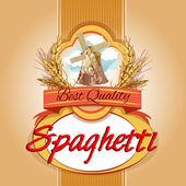 Spaghetti pack label — Stock Vector