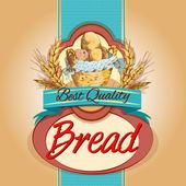 Bread pack label — Stock Vector