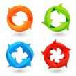 Circle Arrow Icons Set — Stock Vector #45787577
