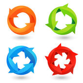Circle Arrow Icons Set — Stock Vector