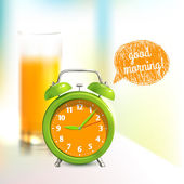Alarm clock background — Stock Vector