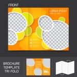 Постер, плакат: Brochure template tri fold
