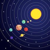 Solar system concept — Vector de stock