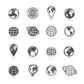 Globe Earth Icons — Stock Vector