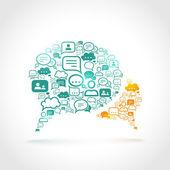 Chat communication concept — Vector de stock