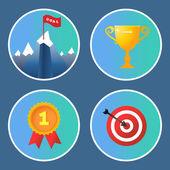 Úspěch ikony nastavit — Stock vektor