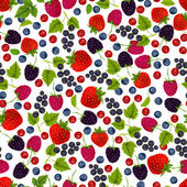 Fresh berries seamless pattern — Stock Vector