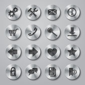 Website Icons Metal — Stock vektor
