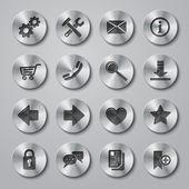 Website Icons Metal — Stock Vector