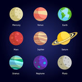Planets decorative set — Stock Vector