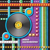 Disco music background — Stock Vector