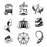 Amusement park elements — Stock Vector #46177759