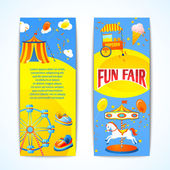 Carnival banners vertical — Stock Vector