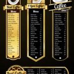 Coffee menu templates — Stock Vector #46548595