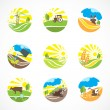 Agriculture Icons Set — Stock Vector #46549003