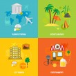 Постер, плакат: Building tourism concepts flat
