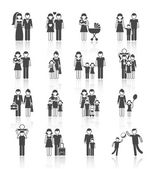 Family Icons Set — Vettoriale Stock