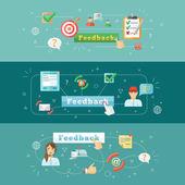 Feedback web infographic — Stock Vector
