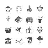 Circus Icons Set — Stock Vector