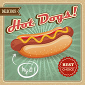 Hot dog poster — Stock Vector