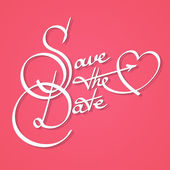 Save the date calligraphy — Stock Vector
