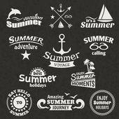 летом элемента label — Cтоковый вектор
