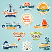 Summer element sticker — Stock Vector