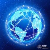 Network globe concept — Stock Vector