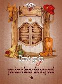 Wild west saloon poster — Stock Vector
