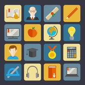 набор кнопок e-learning — Cтоковый вектор