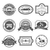 Auto-service-etiketten — Stockvektor