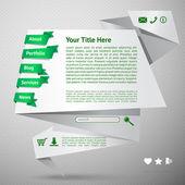Origami website template — Stock Vector