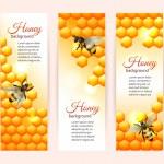 Постер, плакат: Bee banners vertical