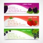 Постер, плакат: Berries banners set