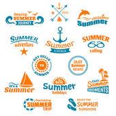 Summer element label — Stock Vector