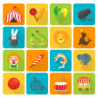 Circus icons set — Stock Vector #46965999