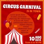 Постер, плакат: Circus advertising poster