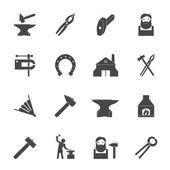 Blacksmith Icons Set — Stock Vector